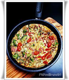 Frittata Stuffed Mushrooms, Stuffed Peppers, Egg Dish, Broccoli Florets, All Vegetables, Baked Eggs, Frittata, Cherry Tomatoes