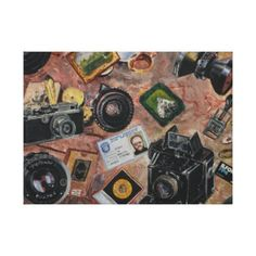photographer table canvas print - antique gifts stylish cool diy custom