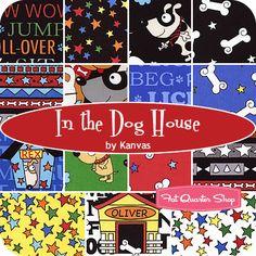 In the Dog House Fat Quarter Bundle Kanvas for Benartex Fabrics - Fat Quarter Shop