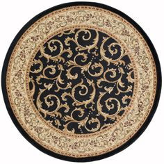 Tayse Rugs Elegance Black Round Indoor Area Rug will perfectly blend with any kind of modern décor. Extremely durable and easy to clean. Power Loom Machine, Oriental Pattern, Oriental Print, Black Rug, Color Black, Round Area Rugs, Transitional Decor, Area Rug Sizes, Carpet Stains