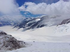 Glacier like view at the top of Jungfrau.