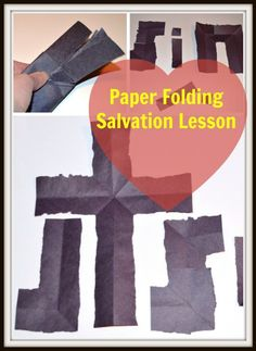 paper folding salvation lesson