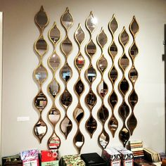 These gold-framed Othello #Mirrors are so #whimsical and fun! They offer great visual interest and reflection to any wall space. $159 for a set of 3
