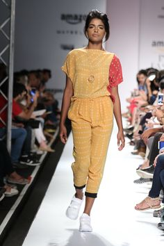 #AIFWSS16 #fashionweek #EXAMPLE #Moutushi #Rituraj #explore #handmade #tie #dye #spring #summer #techniques #local #crafts #optimistic #easy #heritage #traditional #Indian #modern #new #original #creative #cotton #dress #bright #travelFriendly #infused #label #comfortable #prints #jumpsuit #shoes #run #sporty