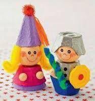 Resultado de imagen de muñecos con CARTONES huevos