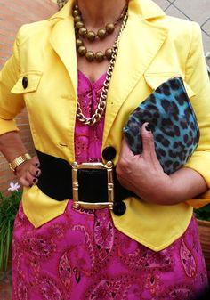 Pink Gap dress -Charity shop-England- 1 pound                                                                          Yellow jacket- Málaga flea market- 1 euro.                                                                           Black velvet belt