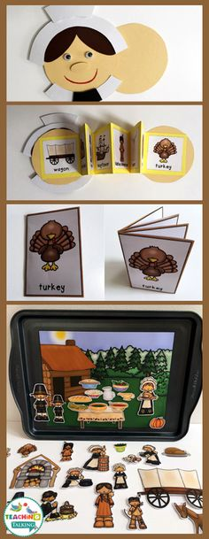 Your students will love my Thanksgiving theme vocabulary set. Make a fun pilgrim craft while reinforcing early language with 5 unique activities!