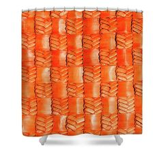 Flax Shower Curtain featuring the photograph Flax Tangerine by Wairua o te Moana