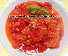 Sambal Merah Padang Indonesian Sambal Recipe, Indonesian Cuisine, Indonesian Recipes, Spicy Recipes, Asian Recipes, Cooking Recipes, Ethnic Recipes, Thai Cooking, Asian Cooking