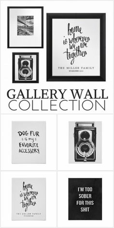 BW Gallery Wall Prints
