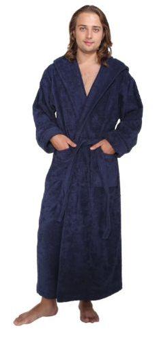 Arus Men's and Women's Hood'n Full Ankle Length Hooded Turkish Cotton Bathrobe $84.50