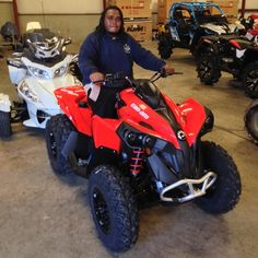Thanks to Byron Carr from Tylertown MS for getting a 2016 Can-Am Renegade 570 at Hattiesburg Cycles