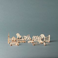 Stand-Up Toronto  Lasercut pop-out wooden cityscape by lightpaper