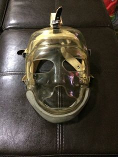 Cooper Weeks Very rare mask that has all original straps and foam. Goalie Mask, Jason Voorhees, 1960s, Masks, Collection, Face Masks