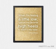 Instant Download High Heels Dolly Parton Quote by PrettyLittleInk