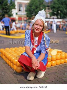 Alkmaar Traditional Cheese Market, Alkmaar, Noord Holland, Netherlands Stock Photo
