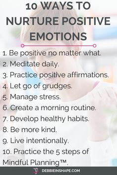 10 ways to be more positive for efficiency. Read more about it on the blog!