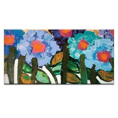 Magnolia Blue by Anna Blatman Painting Print on Wrapped Canvas