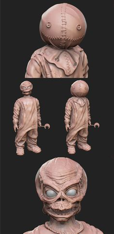 Sam – Trick 'r Treat Images) Scary Movies, Horror Movies, Scary Scarecrow Costume, Sam Trick R Treat, Alex Pardee, Figure Model, Halloween Stuff, Clay Projects, Satan