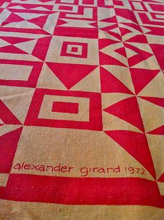 Vintage Original Alexander Girard for Herman Miller Textile Wall Hanging. Item number: this is gorgeous! Alexander Girard, Textile Patterns, Textile Design, Print Patterns, Mid Century Art, Patch Quilt, Surface Pattern Design, Herman Miller, Pattern Wallpaper