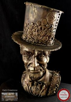 Steam Punk Collaboration 2018 - cake by Calli Creations 3d Cakes, Cupcake Cakes, Gothic Cake, Realistic Cakes, Gravity Defying Cake, Steamed Cake, Sculpted Cakes, Gateaux Cake, Steampunk Accessories