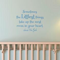Nursery Room Inspiration: Winnie the Pooh quote! Winnie The Pooh Quotes, Nursery Room, Nursery Ideas, Nursery Decor, To Infinity And Beyond, Wall Quotes, Future Baby, Baby Love, Baby Baby