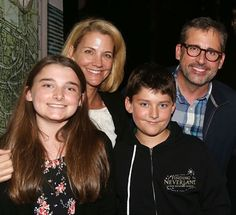 Steve Carell with wife Nancy, daughter Annie and son John Best Of The Office, Randall Park, Office Memes, Christmas Calendar, George Foreman, Steve Carell, That's What She Said, Office Christmas, Watch Netflix