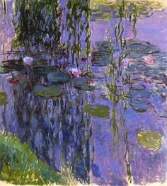 Claude Monet Water-Lilies 39 painting, oil on canvas & frame; Claude Monet Water-Lilies 39 is shipped worldwide, 60 days money back guarantee. Monet Paintings, Impressionist Paintings, Landscape Paintings, Flower Paintings, Landscapes, Landscape Art, Monet Poster, Van Gogh Pinturas, Artist Monet