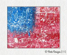 Abstract American Flag Fourth of July Modern Contemporary Whimsical Pop Fine Art Acrylic Action Splatter Painting Flag Art, Action Painting, Paint Splatter, Painting Techniques, Fourth Of July, Fireworks, American Flag, Modern Contemporary, Art Work
