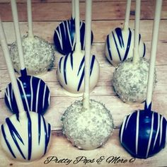 Nautical Navy Silver Cake Pops by Pretty Pops, Cypress, Tx