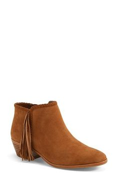 Sam Edelman 'Paige' Fringed Ankle Bootie (Women) | Nordstrom