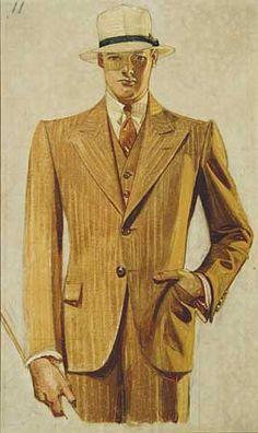 J.C. Leyendecker, original preliminary oil painting, illustration art for Kuppenheimer ad.