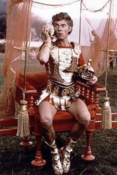 Malcolm McDowell as Emperor Caligula in Caligula.