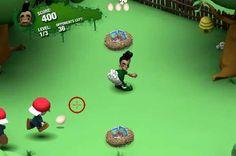 Este extraño niño debe defenderse lanzando huevos! http://mundobanana.com/Hard-boiled-10007655.html