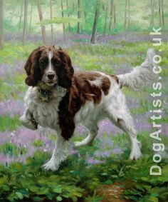 Beautiful painterly style dog portrait - Poppy
