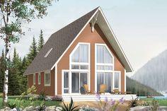 Houseplan 034-00941 Cabin Design, House Design, Cottage Design, Plan Chalet, Mechanical Room, Drummond House Plans, Two Bedroom House, Cottage Plan, Lake Cottage
