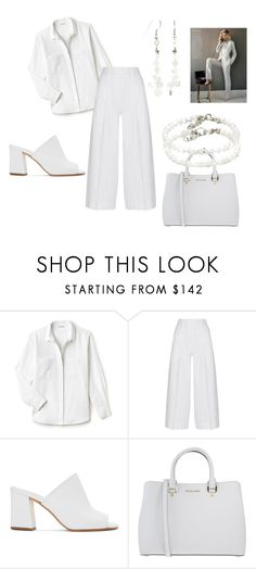 Daisy Goddess by mysticalone-com on Polyvore featuring Lacoste, Diane Von Furstenberg, Maryam Nassir Zadeh, MICHAEL Michael Kors and monochrome