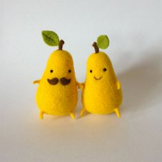 Ukrainian crafter Hanna Dovhan (previously) continues to produce squeal-inducing felt sculptures of foodie friends like this new egg design as well as pairs of cherries, bananas, and pears. She shares new designs on her Tumblr and occasionally sells new designs on Etsy.
