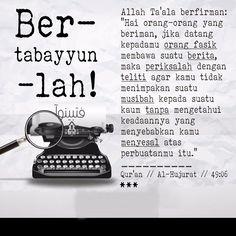 IHM - Atitude : Tabayyun