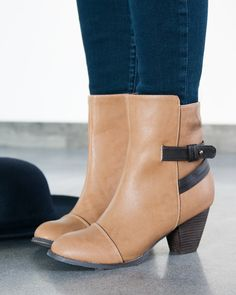 729c7d76e3ae Tail-5 Strap Ankle Bootie - The Chic Site Collection Rachel Hollis