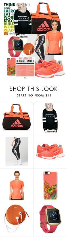 """""""Work Hard Play Harder"""" by mdfletch ❤ liked on Polyvore featuring adidas, MYVL, Casetify, Mark & Graham, Fitbit and workhardplayharder"""