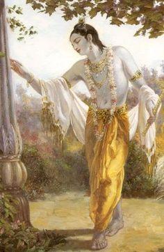 Krishna, wandering.