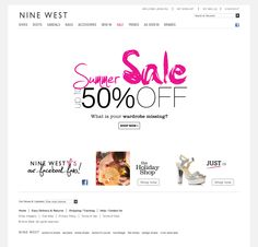 Homepage    Website 'http://www.ninewest.com/' snapped on Snapito!
