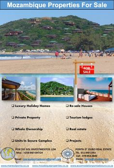 Mozambique Properties For Sale Private Property, Property For Sale, D Unit, Luxury Holidays, Time Of The Year, Indoor Garden, Lodges, Tourism, Real Estate
