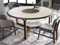 Mesa de jantar redonda de madeira DOOM TO by Ulivi Salotti