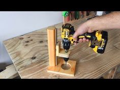 Making a Mobile Drill Press (Drill Guide) - El Yapımı Matkap Kılavuzu - YouTube