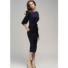Women's Vintage Sexy Party Casual OL Style Bodycon Slim Chiffon Dress – USD $ 16.99