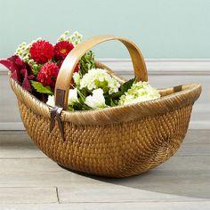 Wisteria+-+Accessories+-+Storage+-++Vintage+Farmer's+Basket+-+$89.00