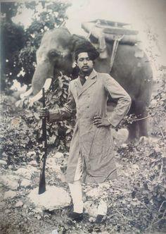 H.H.Maharaja bahadur chandramouleshwar prasad singh (KCSI) of Gidhaur in his young days।।।