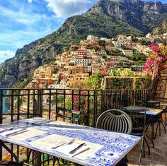 Lovely view of Positano, Italy